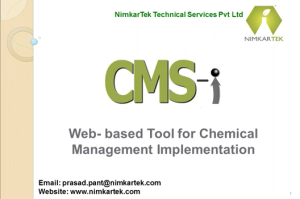 Webinar on CMS-i (Chemical Management System Implementation Tool) for the Members of Outdoor Industry Group